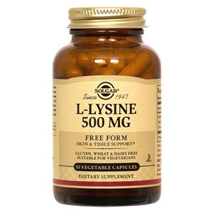 Solgar L-Lysine 500 mg Vegetable Capsules