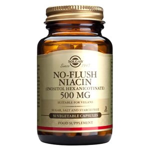 Solgar No-Flush Niacin 500 mg (Inositol Hexanicotinate) Vegetable Capsules