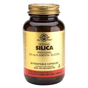 Solgar Oceanic Silica 25 mg Vegetable Capsules 50 Vegicaps