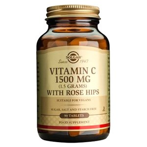 Solgar Vitamin C 1500 mg with Rose Hips Tablets