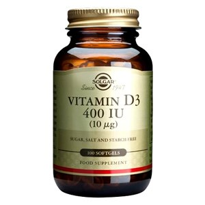 Solgar Vitamin D 400 IU (10µg) Softgels
