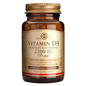 Solgar Vitamin D3 2200IU (55ug) Vegetable Capsules