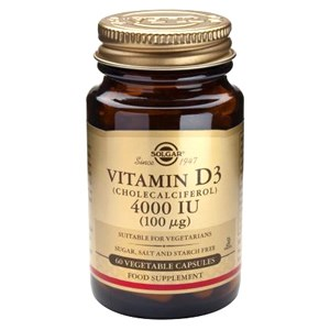 Solgar Vitamin D3 (Cholecalciferol) 4000IU (100ug) Vegetable Capsules