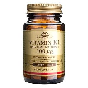 Solgar Vitamin K1 100 µg Tablets