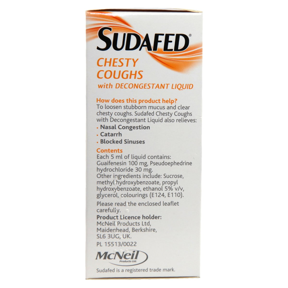 Sudafed Chesty Cough With Decongestant Liquid