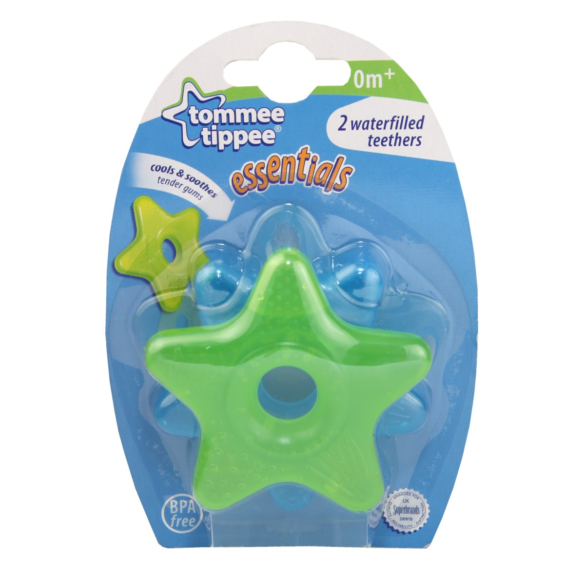 Tommee Tippee Essentials 2 Waterfilled Teethers (0m+)