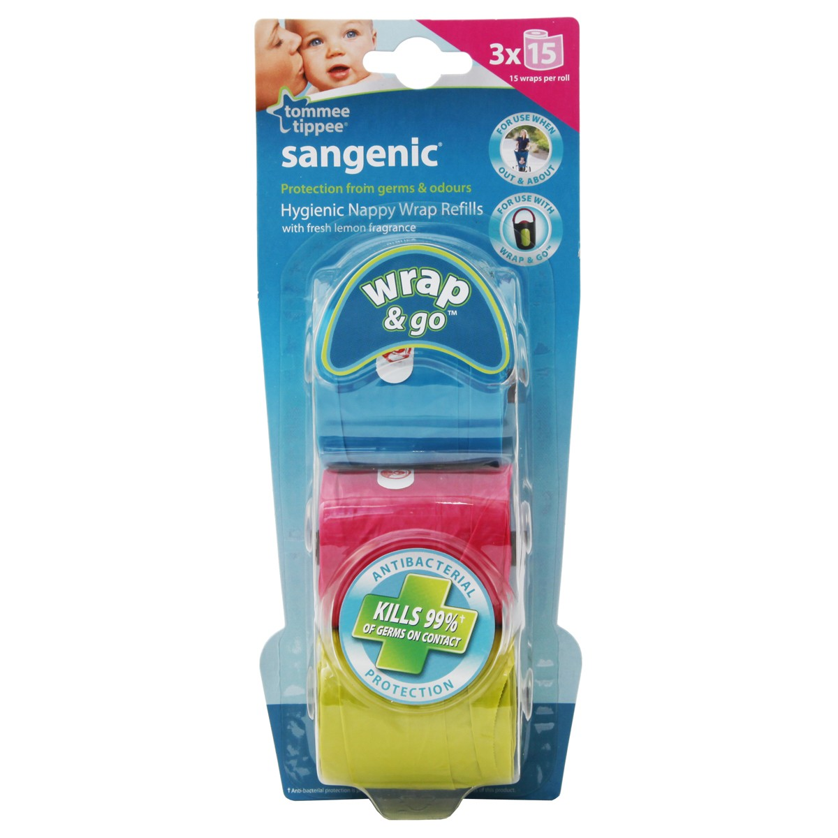 Tommee Tippee Sangenic Hygienic Nappy Wrap Refills