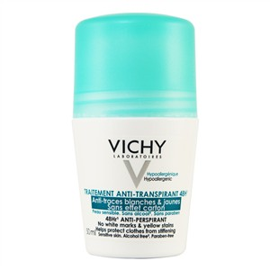 Vichy 48hr Anti-Perspirant No White Marks - No Yellow Stains - Roll-on