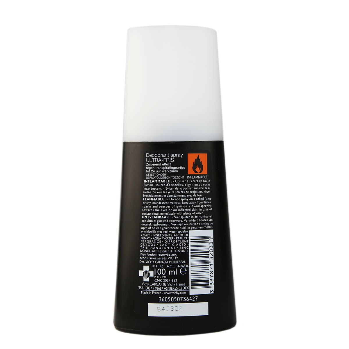 Vichy Homme Ultra Refreshing Deodorant Spray