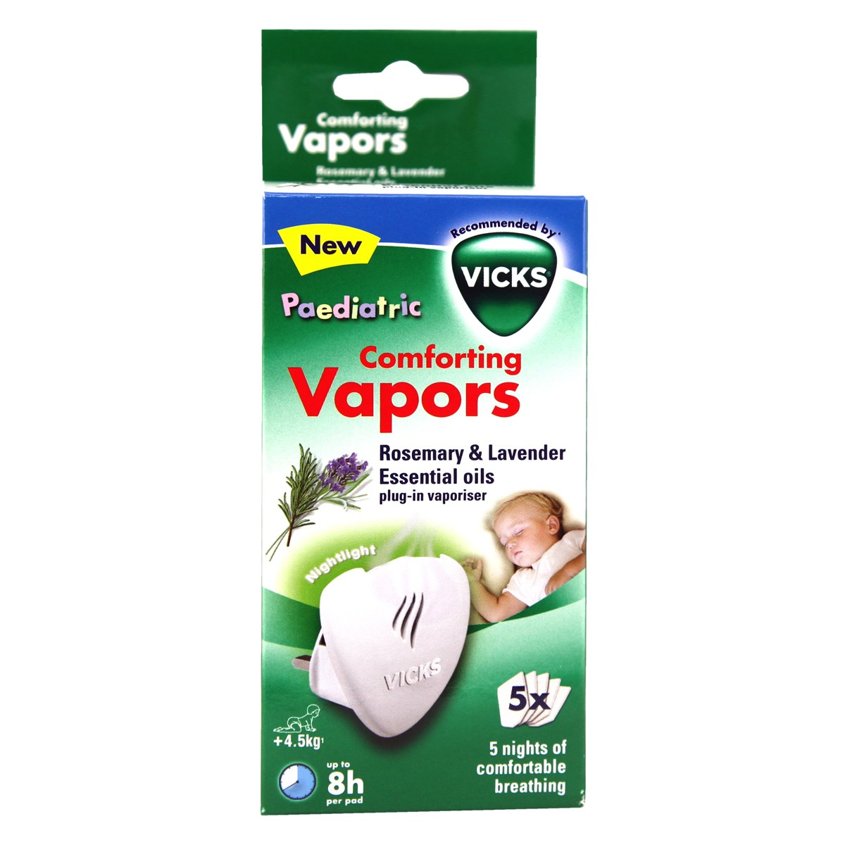 Vicks Paedriatic Comforting Vapors Rosemary & Lavender Essential Oils Plug-in Vapouriser