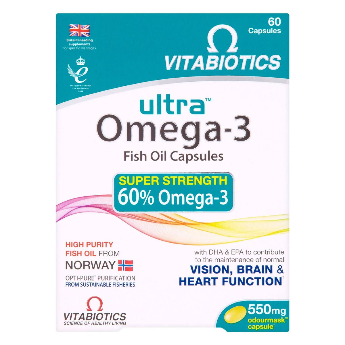 Vitabiotics Ultra Omega-3 Fish Oil Capsules