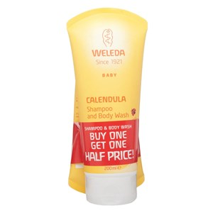 Weleda Baby Calendula Shampoo & Body Wash Duo Pack
