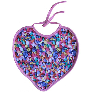 Xplorys Sweetheart Bib - Candy Hearts