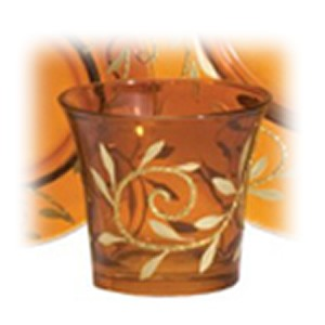 Yankee Candle Accessories - Amber/gold Glass Votive Holder