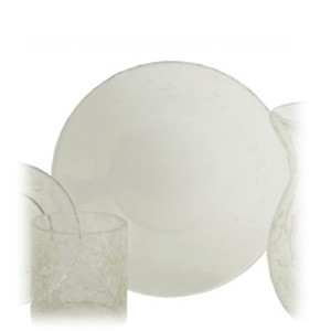 Yankee Candle Accessories - Etched Crackle Clear Large Tray