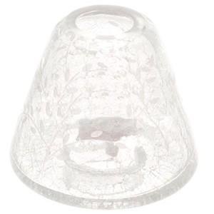Yankee Candle Accessories - Etched Crackle Clear Small Shade