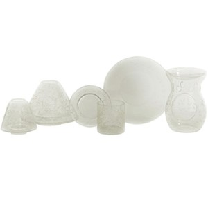 Yankee Candle Accessories - Etched Crackle Clear Large Shade