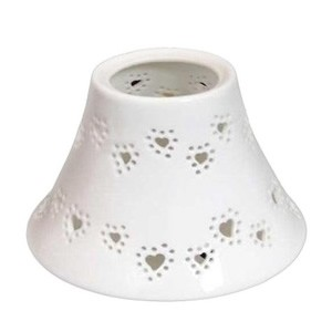 Yankee Candle Accessories - White Heart Small Shade