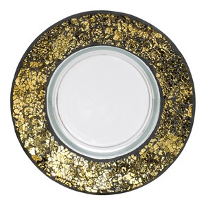 Yankee Candle Black & Gold Mosaic Large Tray