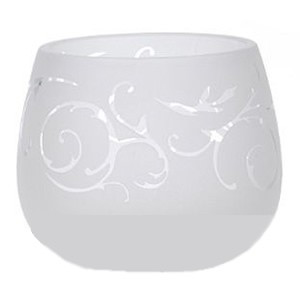 Yankee Candle Florentine Frosted Glass Votive Holder