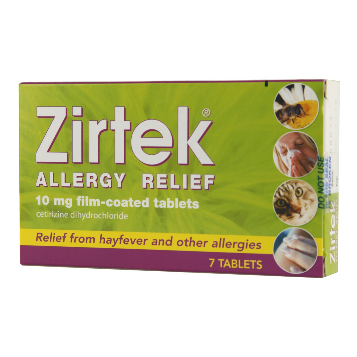 Zirtek Allergy Relief Tablets