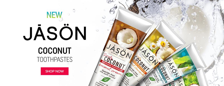 New Jason Coconut Toothpastes