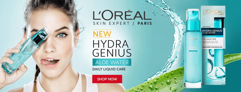 L'Oreal New Hydra Genius Aloe Water
