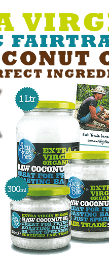 Lucy Bee Extra Virgin Coconut Oil. Shop now!