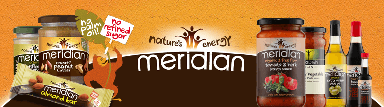 Meridian - Nut butters, nut bars, oils, fruit spreads and many more.