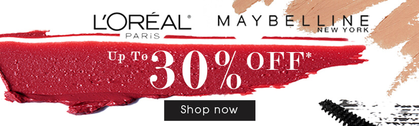 30% Off L'Oreal Paris & Maybelline New York Make-up