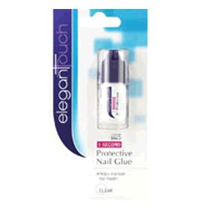 Elegant Touch Adhesives 5 Second Protective Nail Glue Clear