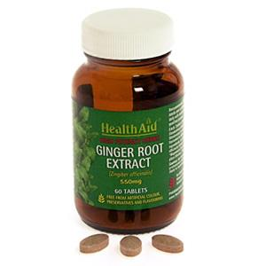 HealthAid Ginger Extract 550mg - Standardised Tablets