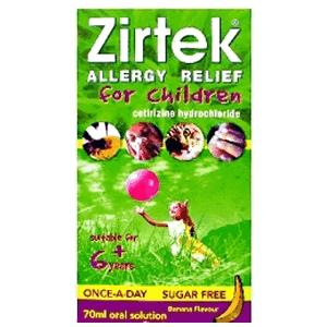 Zirtek Allergy Relief For Children