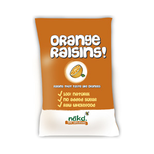 Nakd Raisins Orange