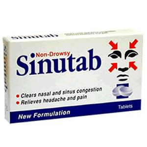 Sinutab Non-Drowsy Tablets