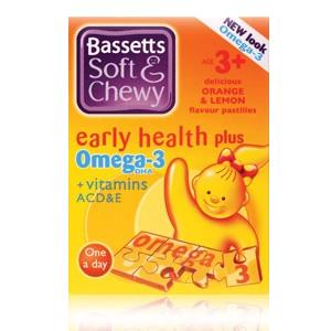 Bassett's Early Health Plus Omega 3 + Vitamins ACD&E Orange & Lemon