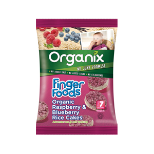 Organix Raspberry & Blueberry Rice Cakes - Finger Foods