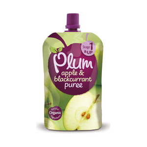 Plum Baby Apple & Blackcurrant Pouch