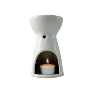 Image of Absolute Aromas Oil Burner - White