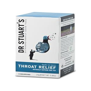 Dr Stuarts Throat Relief Herbal Tea