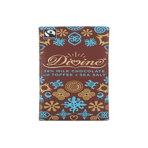 Divine Chocolate Milk Chocolate Toffee & Salt