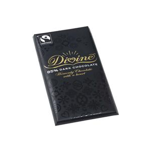 Divine Chocolate 85% Dark Chocolate