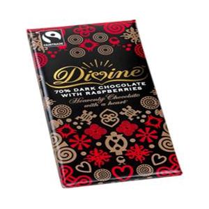 Divine Chocolate Dark Choc with Raspberries