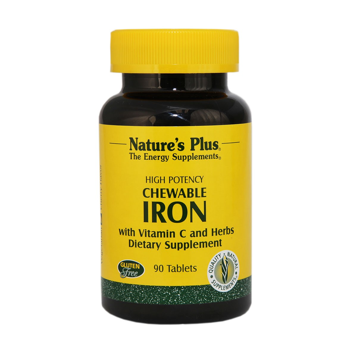 Natures Plus Chewable Iron with Vitamin C and Herbs