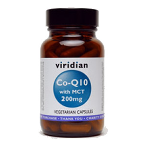 Viridian Co-enzyme Q10 200mg with MCT Veg Caps