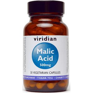 Viridian Malic Acid 500mg Veg Caps