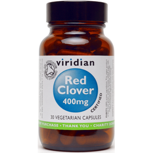 Viridian Organic Red Clover 400mg Veg Caps