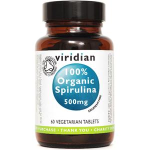 Viridian Organic Spirulina 500mg Tablets