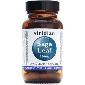 Viridian Sage Leaf Extract 600mg Veg Caps