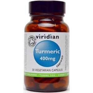 Viridian Turmeric 400mg Veg Caps